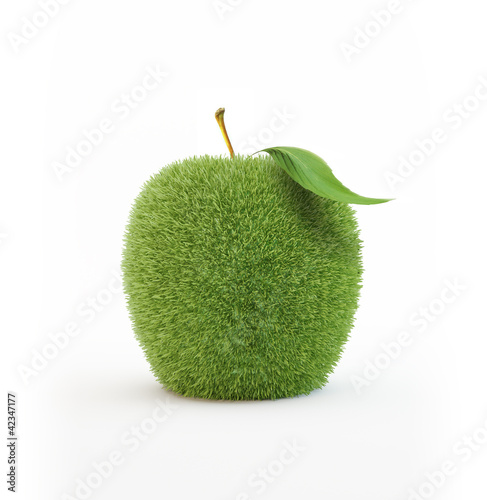Grass covered apple