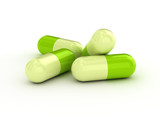 Green pills - medical background