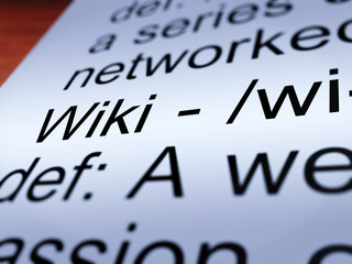 Wiki Definition Closeup Showing Online Encyclopedia