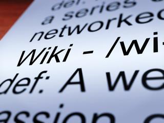 Wiki Definition Closeup Showing Online Encyclopedia