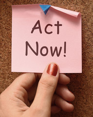 Act Now Note To Inspire And Motivate
