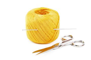 Cotton yarn yellow