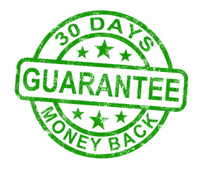 30 Days Money Back Guarantee Stamp
