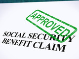 Social Security Claim Approved Stamp Shows Social Unemployment B poster