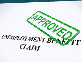 Unemployment Benefit Claim Approved Stamp Shows Social Security