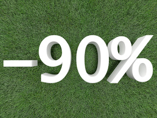 Discount Ninety Percent
