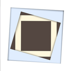White paper square and frame background