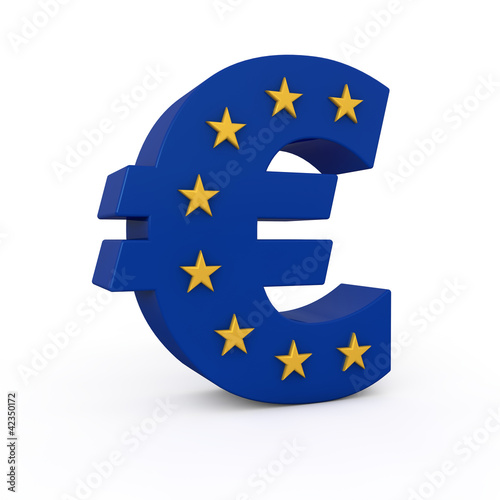 Euro with stars incrusted 3d render