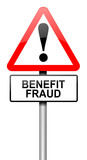 Benefit fraud concept. poster