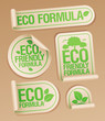 Eco Friendly Formula stickers set