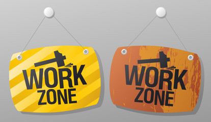 Work zone signs set