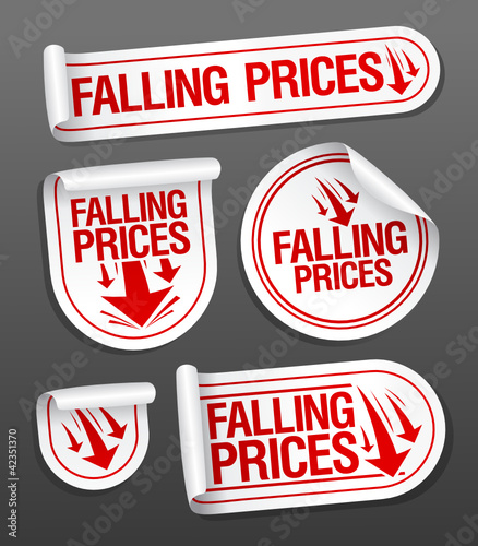 Falling Prices stickers set