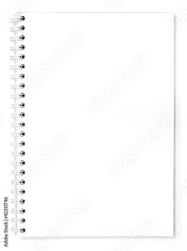 white notebook on white