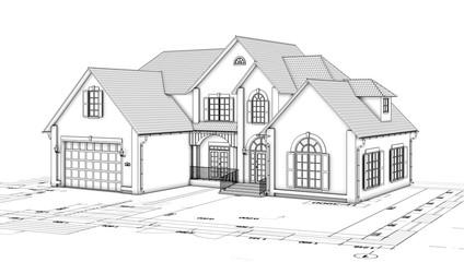 monochrome cottage