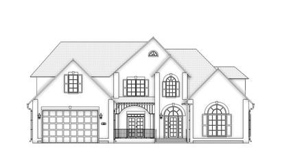 front view contour house