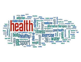 """""""HEALTH"""" Tag Cloud (exercise fitness medicine sport good form)"""