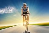 Fototapety Sunset Bicycling