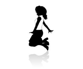 Danseuse en tee-shirt blanc