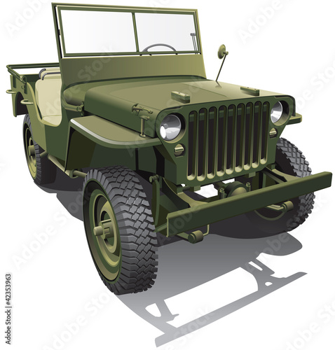 Poster Militair army jeep