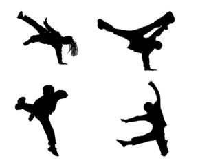 Plaquette de danseurs Hip Hop