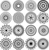 A set of beautiful mandalas and lace circles