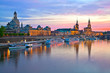 canvas print picture - Elbflorenz Dresden HDR