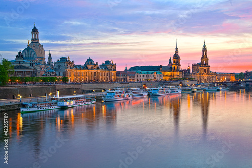 Leinwanddruck Bild Elbflorenz Dresden HDR