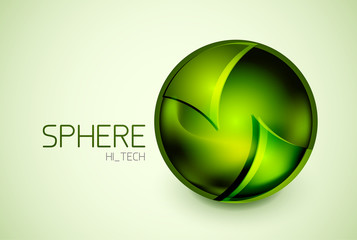 Abstract glass hi-tech sphere concept