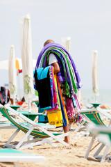 mercante in spiaggia