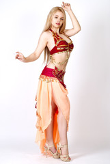 beautiful young blonde, Arab Dance