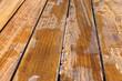 wet teak wood