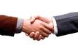 isolated business handshake