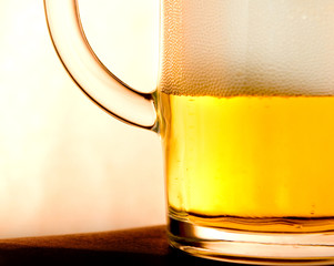 closeup of glass with beer