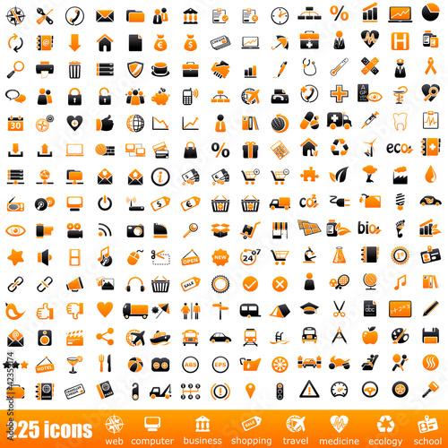 225 orange icons