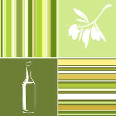 Sfondo righe bottiglia olive