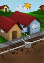drain system house