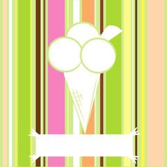 Cono gelato strisce