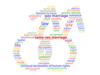 SAME-SEX MARRIAGE tag cloud (male symbol right gay)