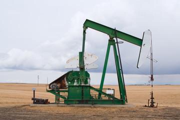 A pumpjack in Alberta, Canada.