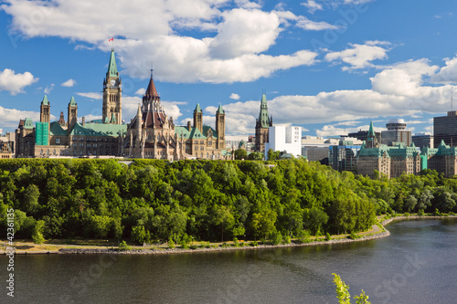 Leinwanddruck Bild Parliament Hill, Ottawa, Ontario, Canada