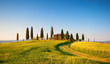 Leinwanddruck Bild - villa in toscana, italia