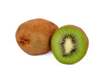Kiwi fruits isolated on white background