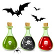 Poison bottles and bats