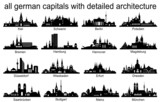 Skyline Set Germany Capitals