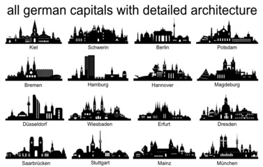 Skyline Set Germany Capitals