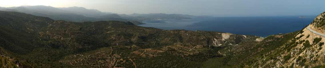 Panoramic view of Mirabello bay