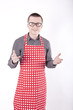 Male cook in the apron