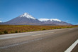 Heading out San Pedro de Atacama, a view of Volcano Licancabur.