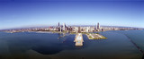 Chicago Harbor, Aerial Perspective, Illinois