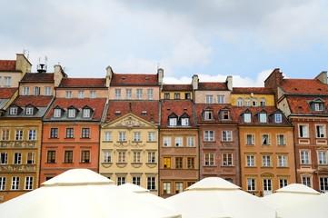 Historische Häuser in der Altstadt von Warschau